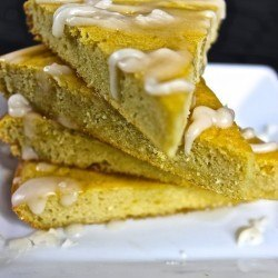 paleo lemon cake with citrus glaze