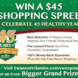 Swanson Health Products 45th Anniversary Giveaway!