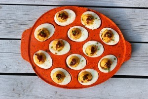 Smoky Bacon Deviled Eggs
