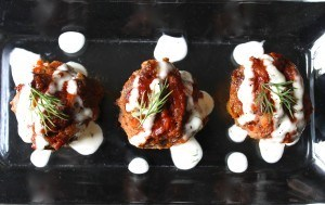 Caramelized Onion Buffalo Meatballs