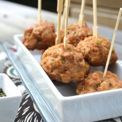 4-Step Teriyaki Turkey Meatballs