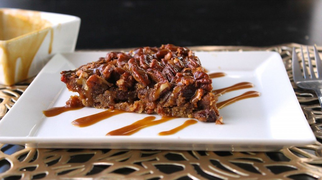 Pecan Pie with Bacon Crust + Caramel Drizzle
