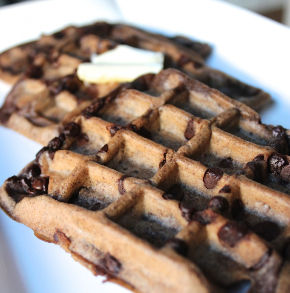 DOUBLE CHOCOLATE HAZELNUT WAFFLES