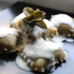 Paleo Mushroom Ravioli + Cream Sauce