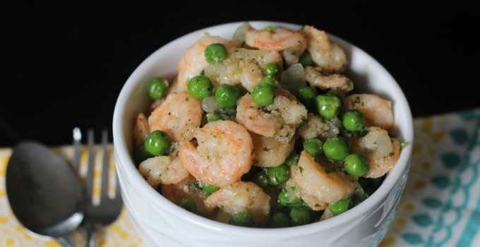 SHRIMPEAS {Shrimp + Peas}