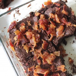 "Bacon ""Nutella"" Brownies {Paleo/Vegan}"