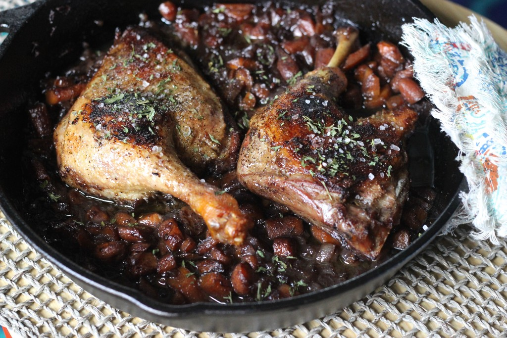 Honey Merlot Crispy Duck Legs