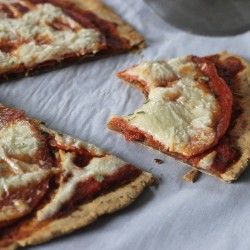Cassava Flour Pizza Dough + Vegan Cheese