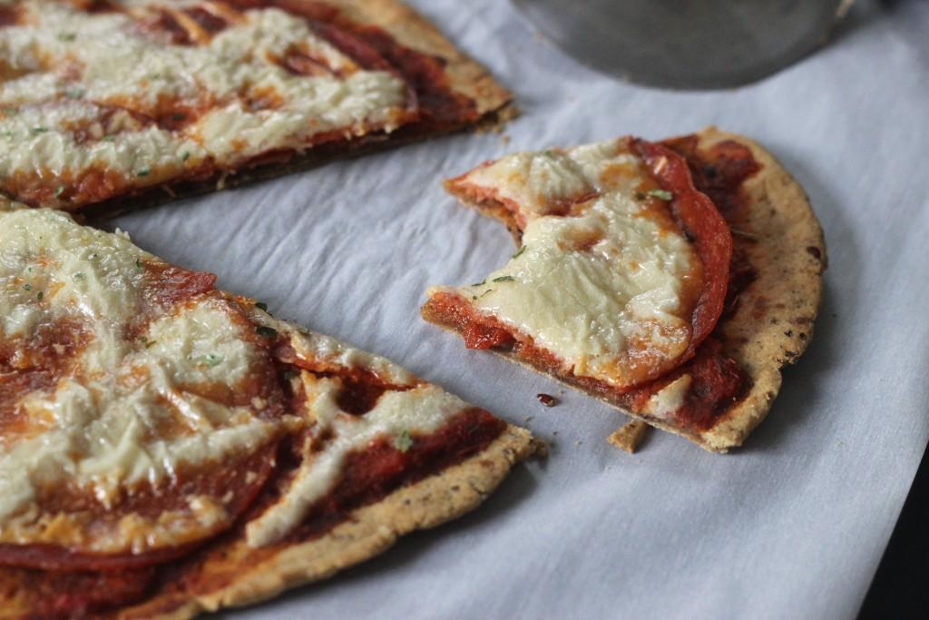 CASSAVA FLOUR PIZZA CRUST + DAIRY FREE CHEESE
