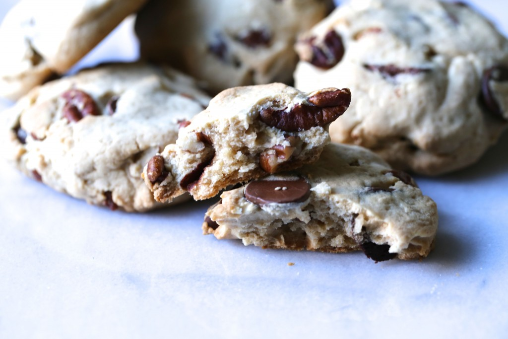Paleo Pecan + Chocolate Chip Shortbread Cookies