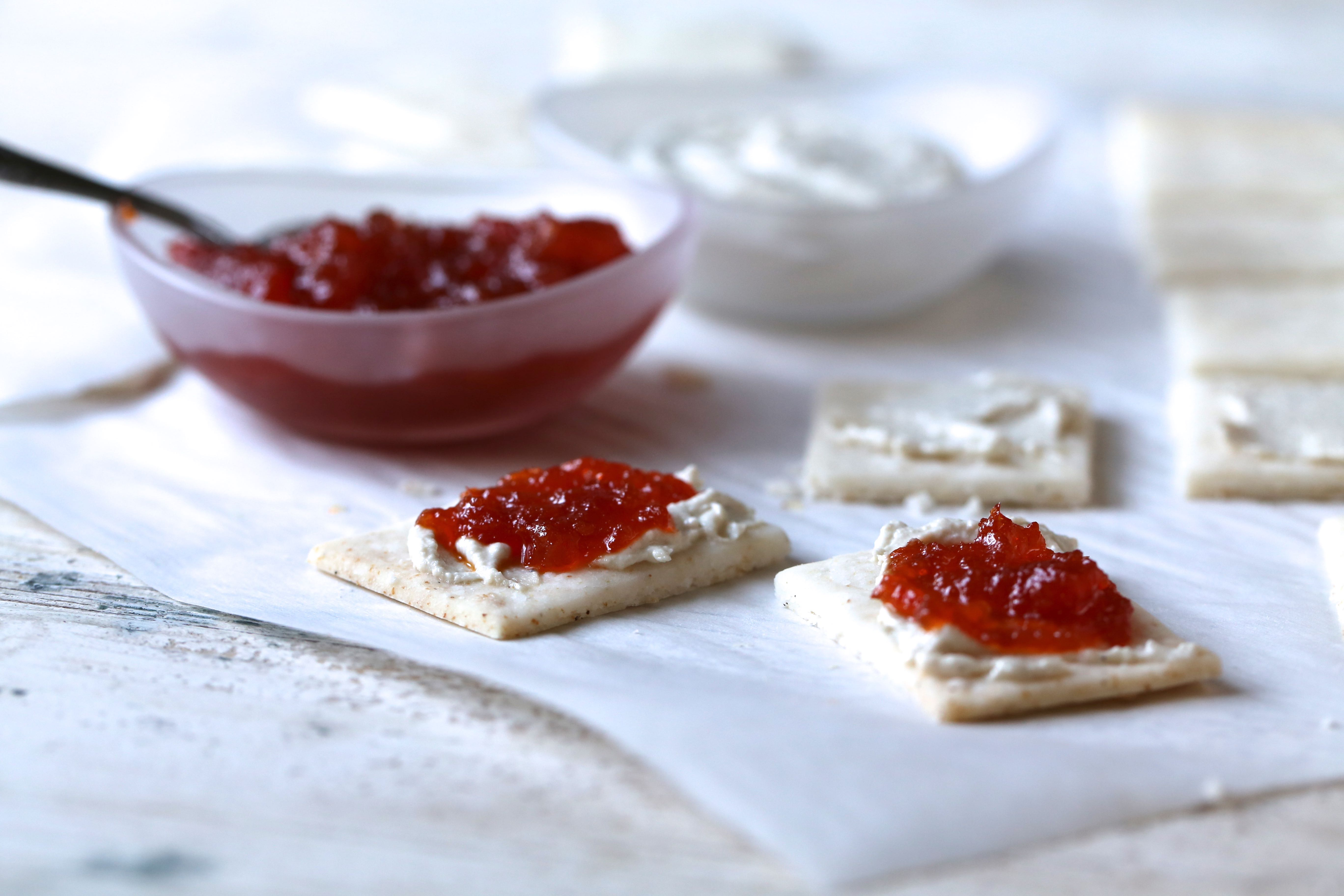 cream cheese with pepper jelly