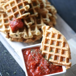 Paleo Garlic Bread Waffle Dippers