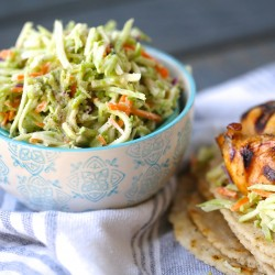 Easy 2-Minute Broccoli Slaw