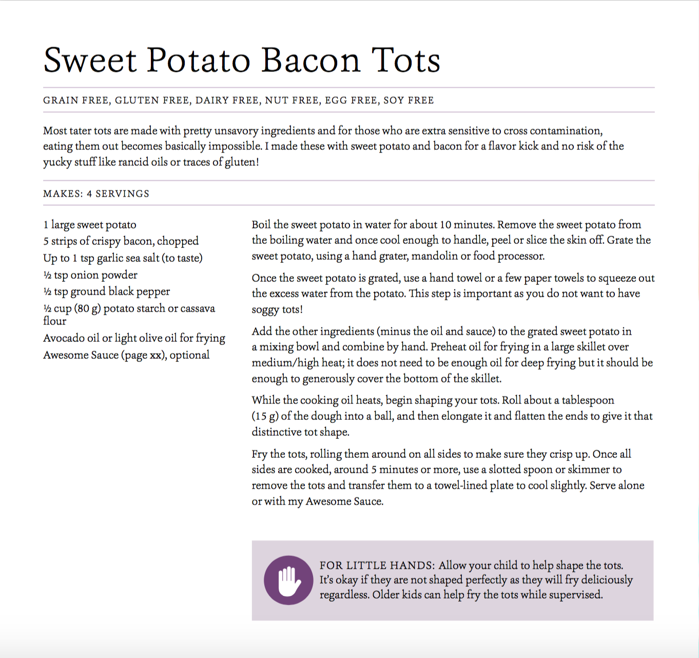 Sweet Potato Bacon Tots