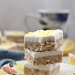 Paleo Coconut and Lemon Cheesecake Bars