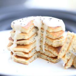 Paleo Lemon Poppyseed Pancakes