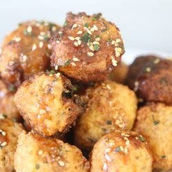 Paleo Caulifritters with General Tso's Glaze