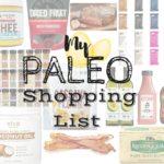My Paleo Shopping List