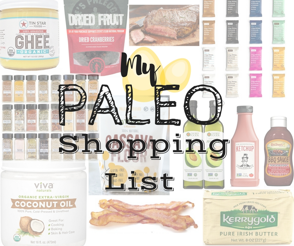 My Paleo Shopping List