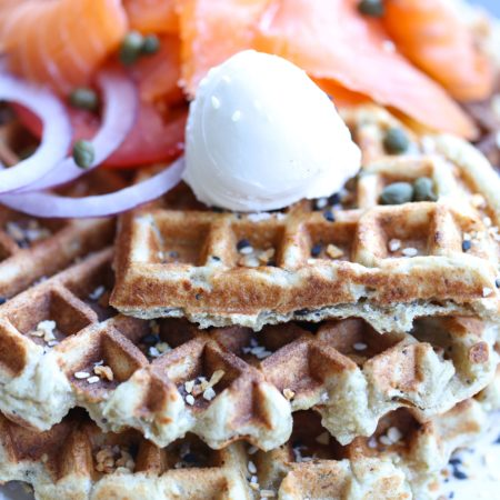 Paleo Everything Bagel Waffles