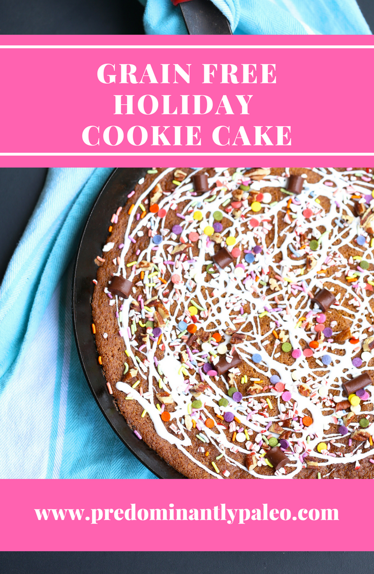 GRAIN FREE LOADED HOLIDAY COOKIE CAKE