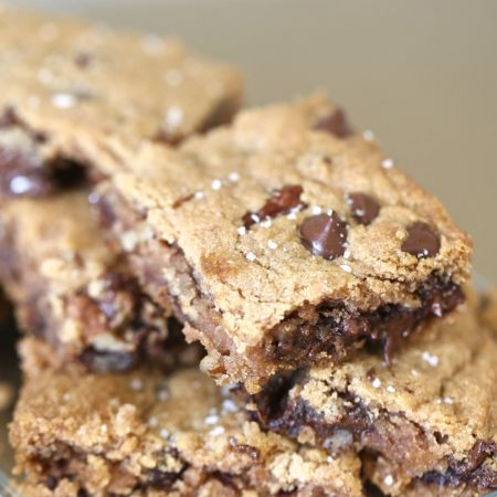 Paleo Chocolate Chip and Pecan Cookie Bars
