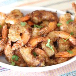 Paleo Crispy Gulf Fried Shrimp