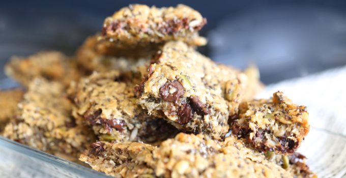 Paleo Chewy Trail Mix Bars