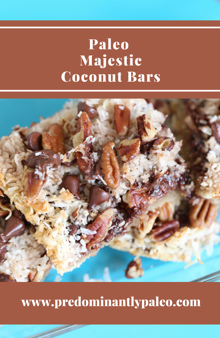 Paleo Majestic Coconut Bars
