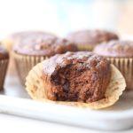 Paleo Mocha Chocolate Chip Muffins with Hidden Veggies