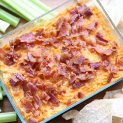 Veggie Packed Bacon Buffalo Chicken Dip