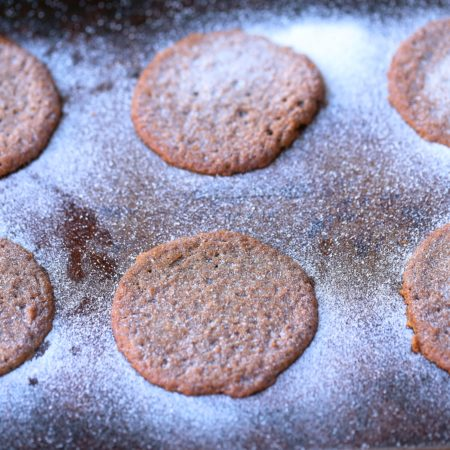 Crispy Chewy Paleo Gingerbread Cookies