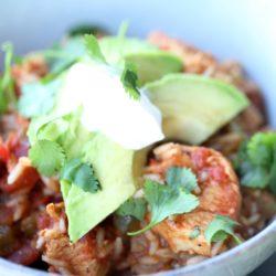 Instant Pot Gluten Free Chicken Taco Bowls