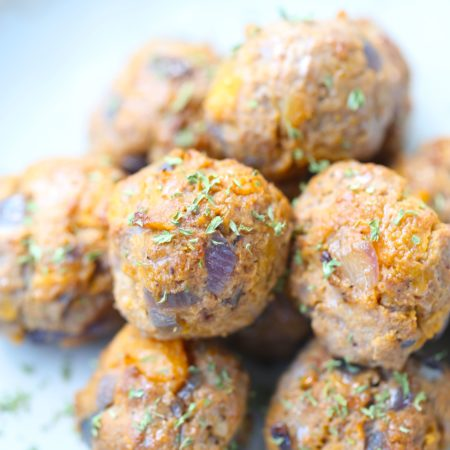 Veggie Packed Air Fryer Meatballs