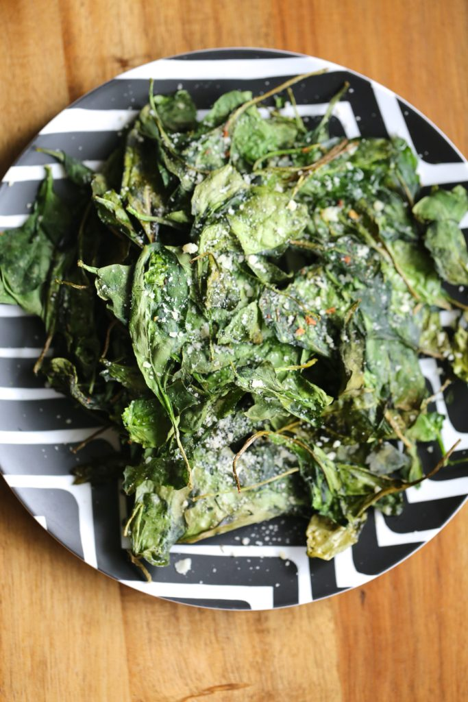 Air Fryer Crispy Spinach