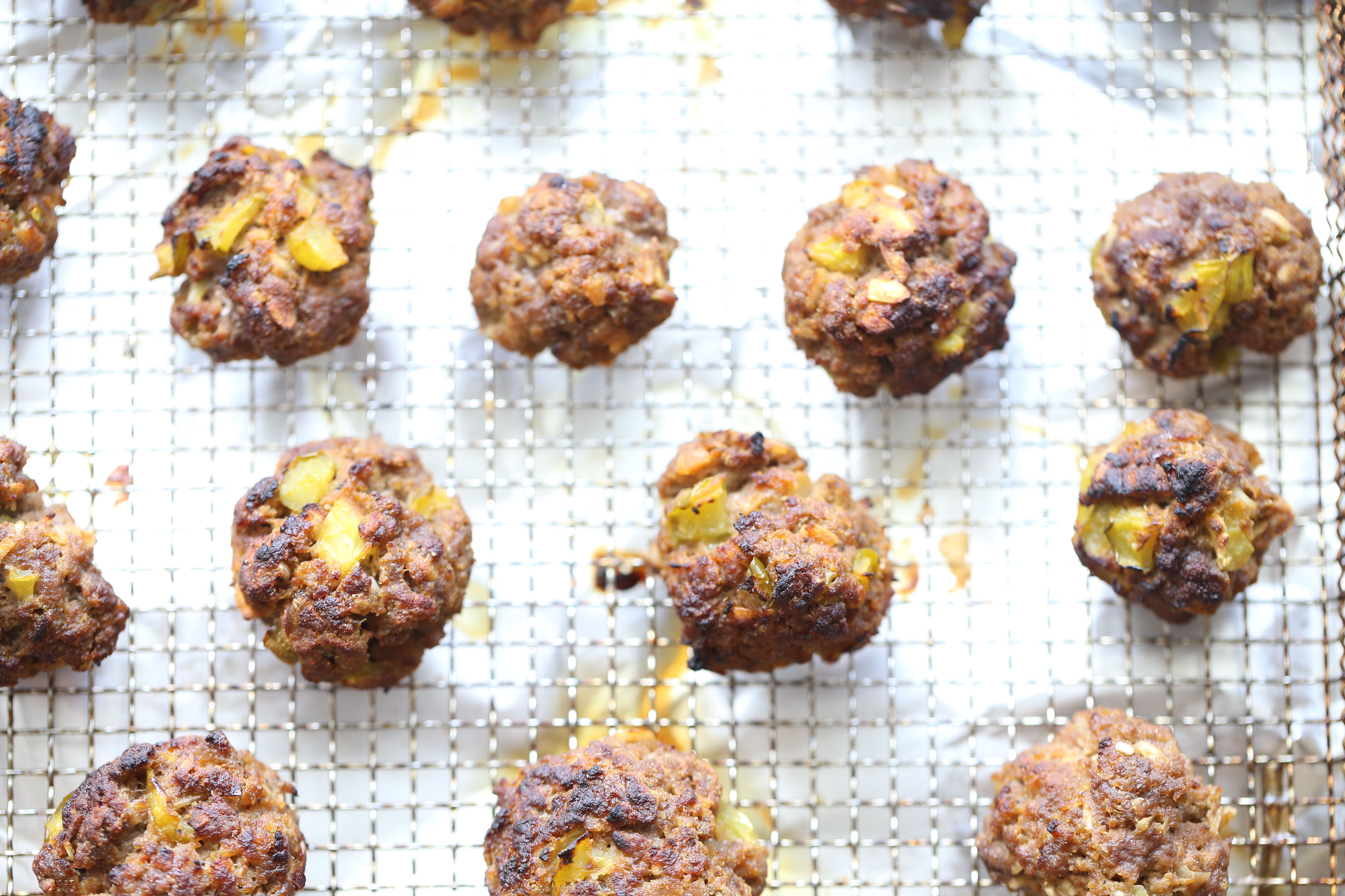Loaded Burger Air Fryer Meatballs