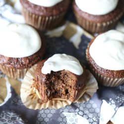 Legit Gingerbread Muffins with Cream Cheese Frosting