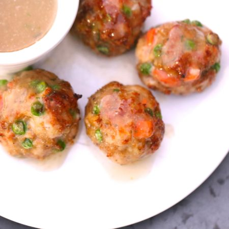 Chicken Pot Pie Meatballs