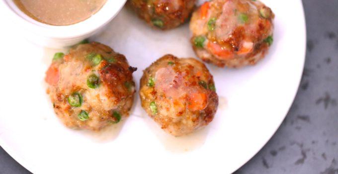 Chicken Pot Pie Meatballs