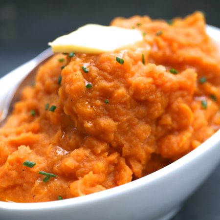 INSTANT POT SAVORY WHIPPED SWEET POTATOES