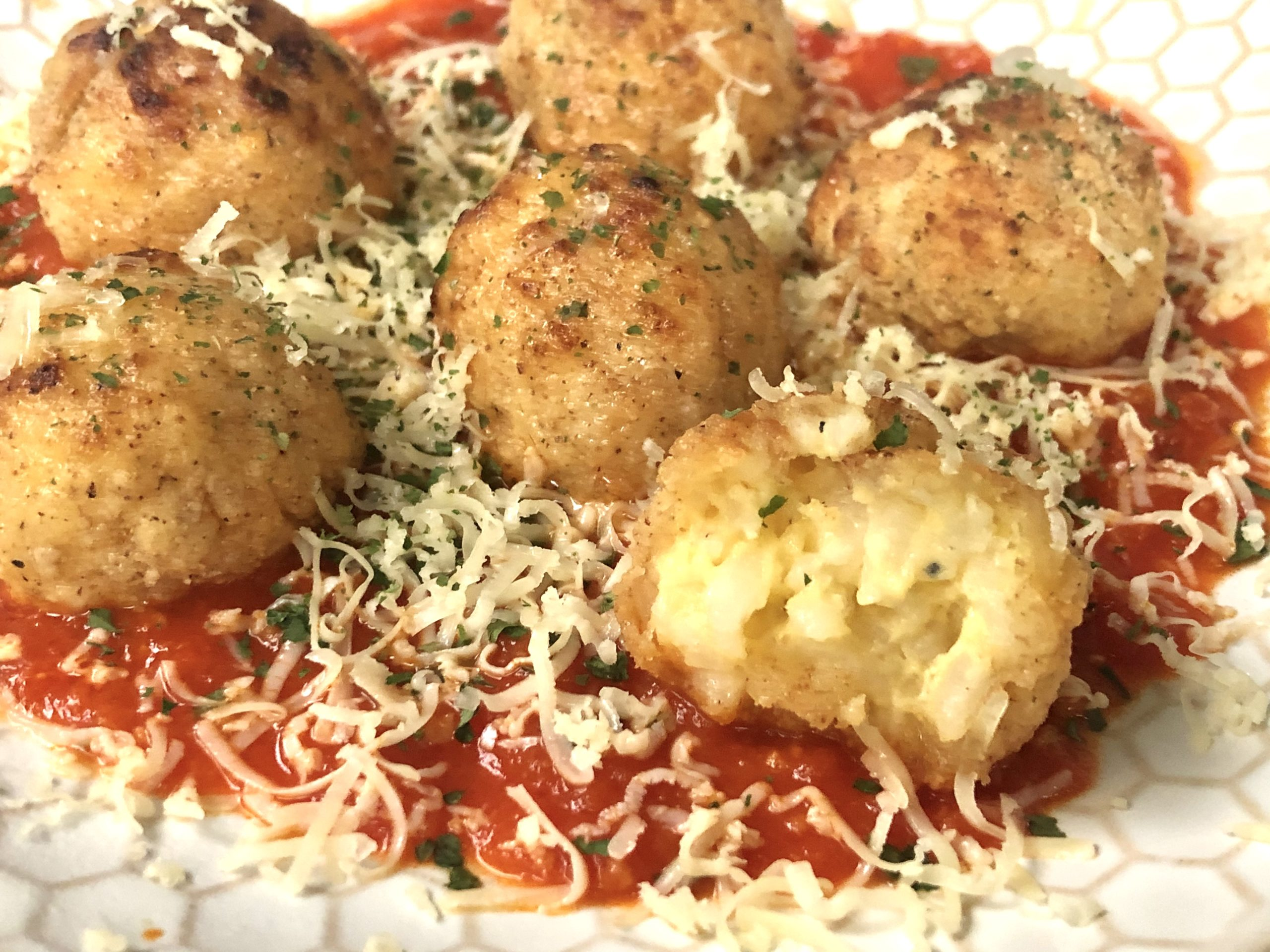 Air Fryer Cheesy Risotto Balls