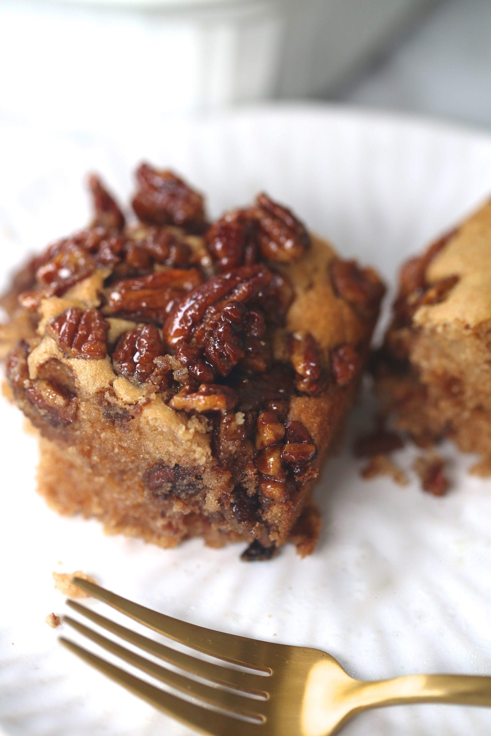 Grain Free Pecan Praline Coffee Cake