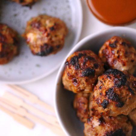 Air Fryer Cheesy BBQ Meatballs