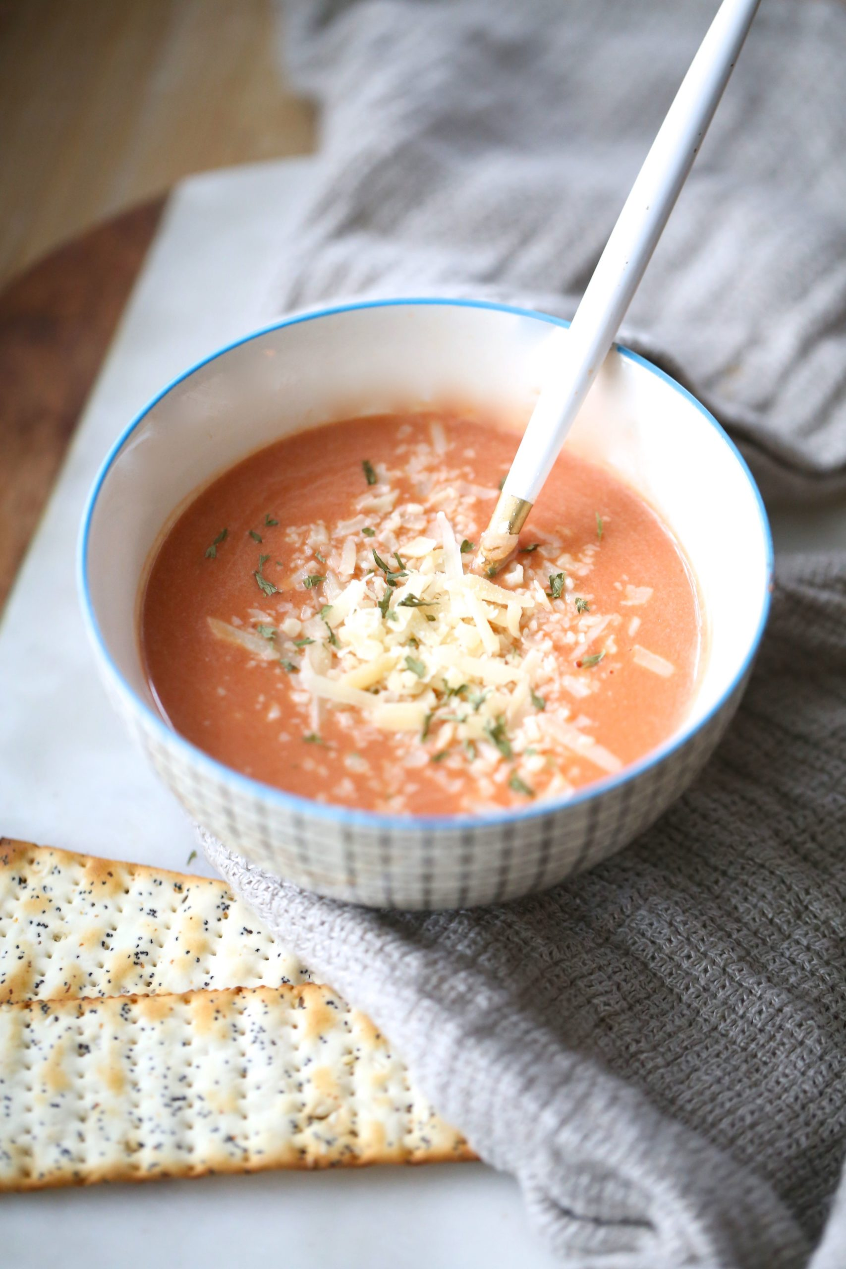 Two Minute Single Serving Tomato Soup